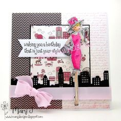uptown girl AUDREY LOVES HER MAKEUP (CLING STAMP)