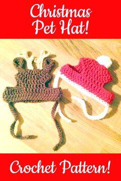 38 Ideas Diy Christmas Sweater Cat Crochet Patterns For 2019 Crochet Dog Sweater Free Pattern, Crochet Dog Patterns, Snood Pattern, Crochet Christmas Hats, Christmas Crochet Patterns, Christmas Gifts, Cat Christmas Hat, Crochet Crafts, Crochet Projects