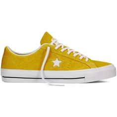 Converse CONS One Star Hairy Suede – yellow Sneakers (89 CAD) ❤ liked on Polyvore featuring shoes, sneakers, yellow, converse sneakers, converse trainers, yellow shoes, converse shoes and yellow sneakers