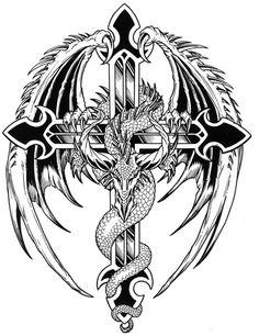 Drachen und andere Fabelwesen - Bilder Tattoos Geschichten - My list of the most creative tattoo models Dragon Tattoo Stencil, Dragon Tattoo Flash, Tattoo Stencils, Tattoo Drawings, Body Art Tattoos, Sleeve Tattoos, Tatoos, Arm Tattoos, Diamond Tattoos