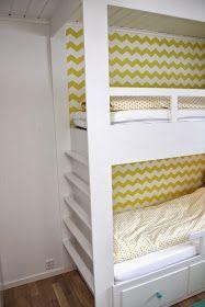 hvitstil.com: Plassbygd seng til jenterommet Daybed, Bunk Beds, Loft, Table, Mars, Furniture, Home Decor, Basteln, Homemade Home Decor