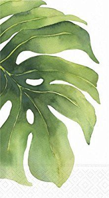 Design Design Oasis Flower Leaf Guest Towel/buffet Napkin, 15-Count Packages (Pack of 3)