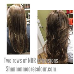 2 rows of Natural Beaded Row hair extensions at Moore Colour www.shannonmoorecolour.com