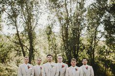 Bismarck, ND Wedding Photography - Groomsmen, summer, suits , outdoors