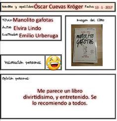Un libro que te hará reír y sonreír, seguro ;-) y que nos recomienda Óscar.