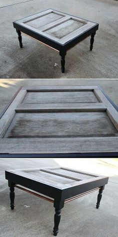Salvaged Door Coffee Table DIY tutorial turn an old door into a