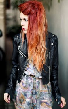 red ombre hair for females - Google Search