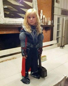 Awe this is adoreable! Haleyana would make a very cute lil thor too.. I'm wondering if this is a lil guy or a lil girl. Either way, SUPER CUTE!