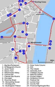 London Icons Self Guided Walk Map - August 2014
