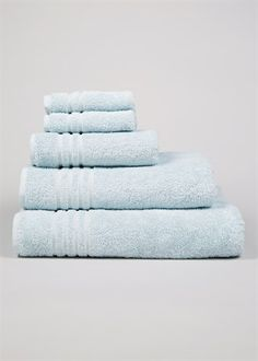 Matalan Egyptian Cotton Towels in Duck Egg Blue - From to