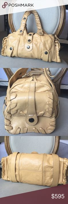 "Chloe beige ""Silverado"" lamb leather bag Chloe all lamb leather "" Silverado"" bag in great condition. Very roomie with two outside pockets and one zippered pocket on the inside. Additional pics upon request. Chloe Bags Shoulder Bags"