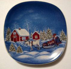 """Arabia  """"Lapp Woman""""...small dish that hangs on the wall."""
