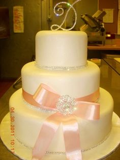 Another fondant cake with real ribbon