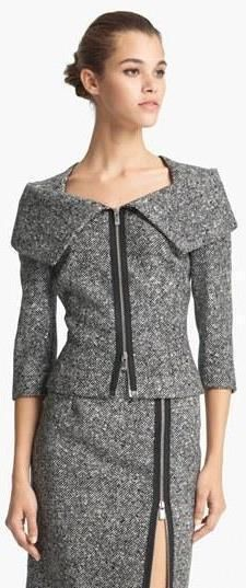 Michael Kors Origami Collar Tweed Jacket.