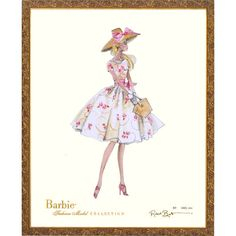 Limited Edition Vintage Ilona Barbie Print from PoshTots (we need this for our Barbie bedroom!)