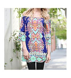 Pretty in the City Tunic, Blue #FD2910-1 *Choose Your Size