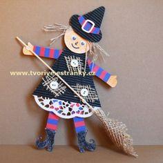 Čarodějnice se záplatami Easy Crafts, Crafts For Kids, Arts And Crafts, Origami, Step Kids, Halloween Art, School Projects, Fairy Tales, Witch