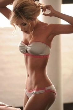 Trying to get beautiful abs like she has. Hope this workout plan will help me. Btw. love that lingerie also :)
