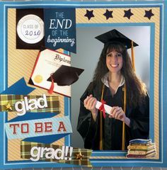 Glad to be plaid School Scrapbook Layouts, Scrapbook Designs, Scrapbook Sketches, Scrapbooking Layouts, Scrapbook Cards, Scrapbook Frames, Scrapbook Templates, Graduation Scrapbook, Graduation Cards