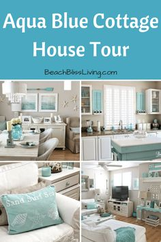 A little cottage in sunny California, decorated by a beach lover with a passion for aqua. Step inside! 'I absolutely love the beach! It's so relaxing and peaceful,' designer Breezy