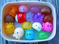 cute, kawaii, and octopus image Fimo Kawaii, Polymer Clay Kawaii, Kawaii Diy, Polymer Clay Charms, Kawaii Crafts, Kawaii Stuff, Cute Crafts, Diy And Crafts, Japan Kawaii