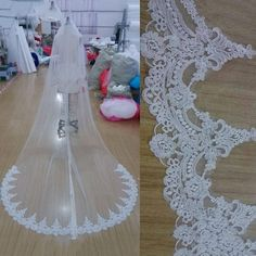 Cheap veil dress, Buy Quality accessories speaker directly from China veil scarf Suppliers: White Ivory Cathedral Length Wedding Veils One Layer Lace Bridal Accessories Veil with Comb