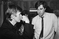 David Bowie and Bryan Ferry, ca.1978