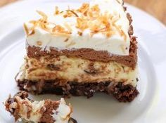 Brownie Bottom Coconut Chocolate Cream Cake Recipe