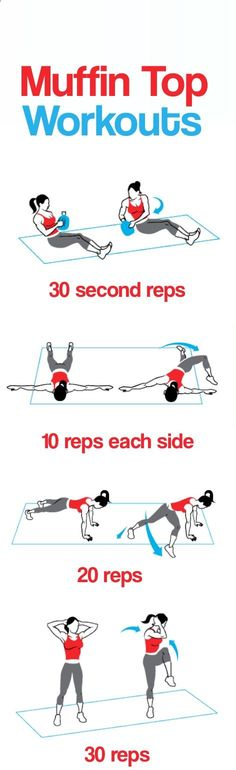 get rid of Muffin top exercises
