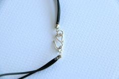 Leather Wrap Bracelet with STERLING SILVER Circle and by tamisloan
