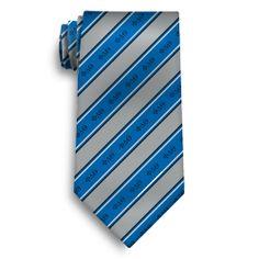 Phi Delt Blue and Gray Striped Silk Tie
