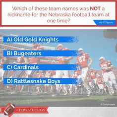 Which team name was NOT a nickname of the Nebraska #Huskers? #TriviaTuesday