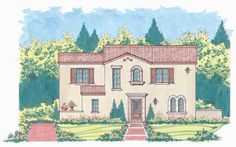 Casa Feliz House Plan: Elevation
