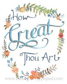 How Great Thou Art - Makewells on Etsy