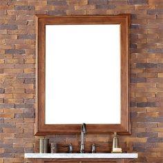 James Martin Pasadena 34' Mirror in Antique Oak, Brown