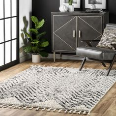 Temara Moroccan Chevron Tassel Off White Rug Casual Decor, Target Rug, Buy Rugs, Rugs Usa, White Rug, Contemporary Rugs, Online Home Decor Stores, Colorful Rugs, Living Room Decor
