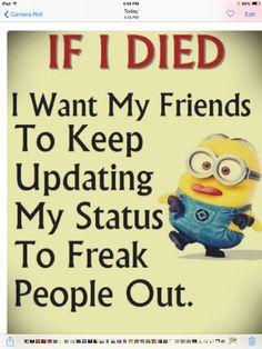 Due keep updating FB freaky