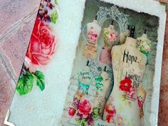 Decoupage and Crackle in glass tray 3/3