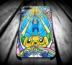Adventure Time Stained Glass iPhone 4/4s/5/5s/5c/6/6 Plus Case, Samsung Galaxy S3/S4/S5/Note 3/4 Case, iPod 4/5 Case, HtC One M7 M8 and Nexus Case **