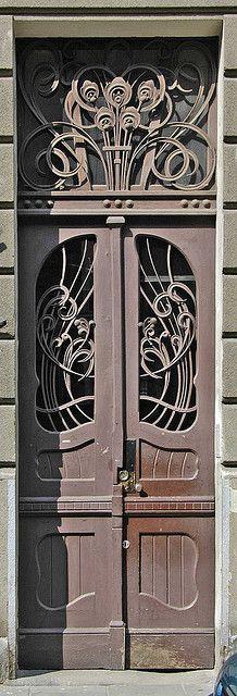 Art Nouveau Door - Krakow, Poland  (I'm not sure if I favor the Art Nouveau or the Art Deco Period more)