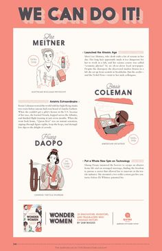 Wonder Women Tabloid-Sized Poster  #science #math #education Lise Meitner, Bessie Coleman, Wow World, Math Education, Atomic Age, Classroom Posters, We Can Do It, Wonder Women, Physics