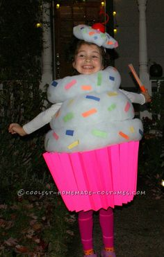 Best Homemade Cupcake Costume for a Girl... Coolest Halloween Costume Contest