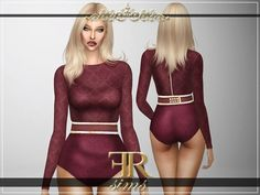 Heartbreaker Bodysuit by FashionRoyaltySims at TSR • Sims 4 Updates