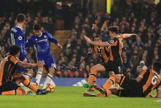 Chelsea 2 Hull City 0 in Jan 2017 at Stamford Bridge. Diego Costa makes it 1-0 right on half-time #Prem