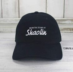 From The Slums Of Shaolin Baseball Cap Curved Bill Dad Hat 100% Cotton Wu  Tang 90 s Classic Hip Hop baa95eefa79c