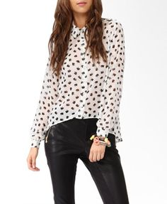 Spiked Hello Kitty® Shirt | FOREVER 21 - 2030186370