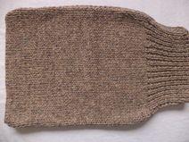 Pucksack gestrickt Merinowolle 50cm Strampelsack
