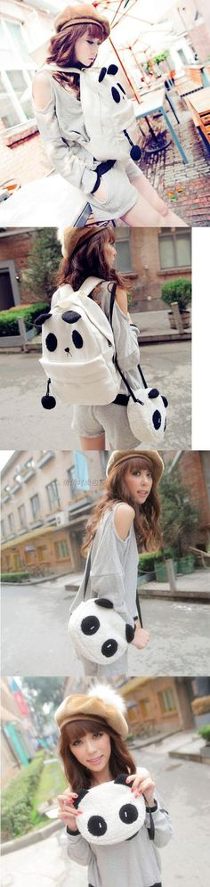 2012Spring and summer cute cartoon panda canvas shoulder bag female student package Messenger package schoolbag couple bags-in Bag Parts & Accessories from Luggage & Bags on Aliexpress.com