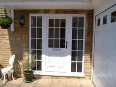 georgian upvc front door with side panels - Google Search