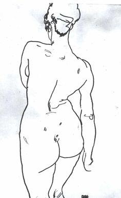 Schiele_-_Weiblicher_Rückenakt